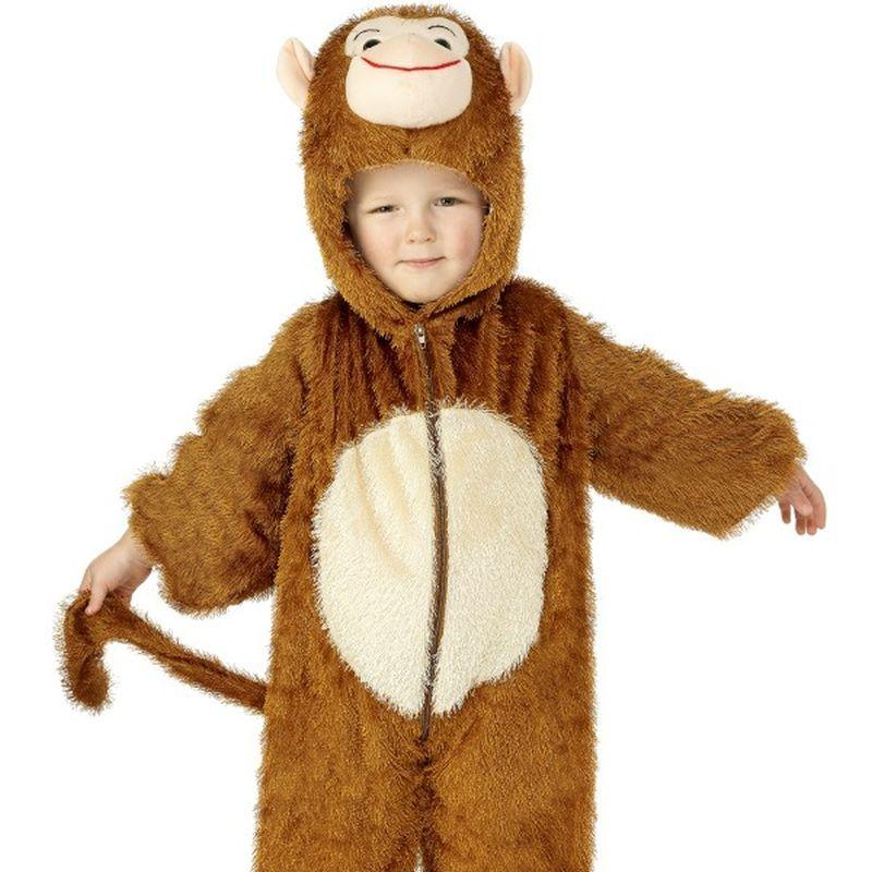 Monkey Costume, Small - Small Age 4-6 Boys Brown/White