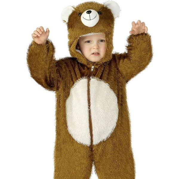 Bear Costume, Small - Small Age 4-6 Boys Brown/White