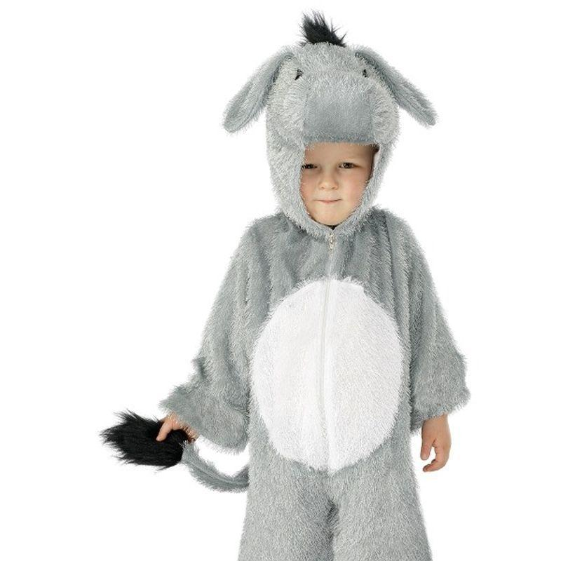 Donkey Costume, Small - Small Age 4-6 Boys Grey/White
