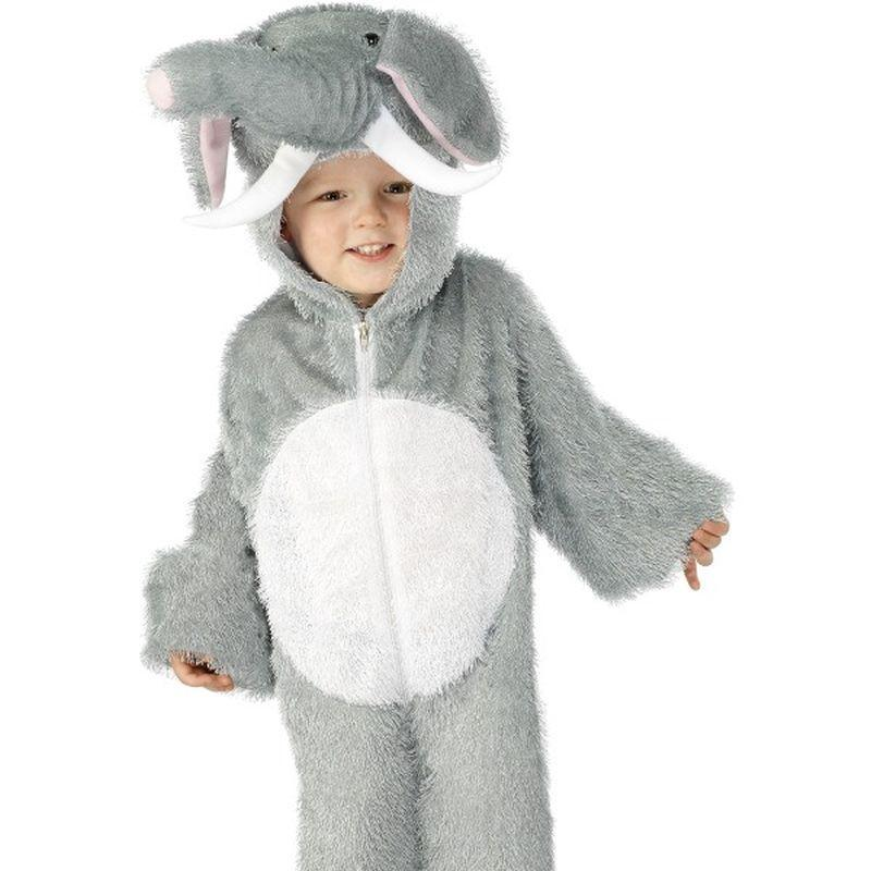 Elephant Costume, Small - Small Age 4-6 Boys Grey/White