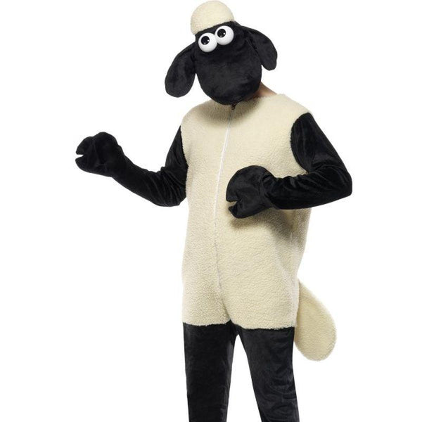 Shaun the Sheep Costume - One Size Mens White/Black