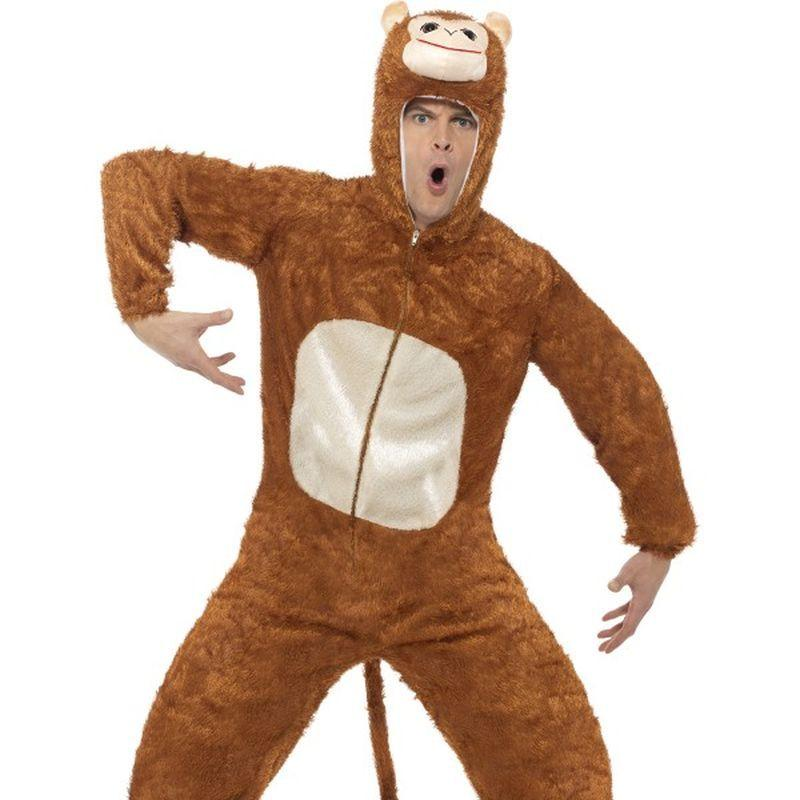 Monkey Costume, Adult - Medium Mens Brown