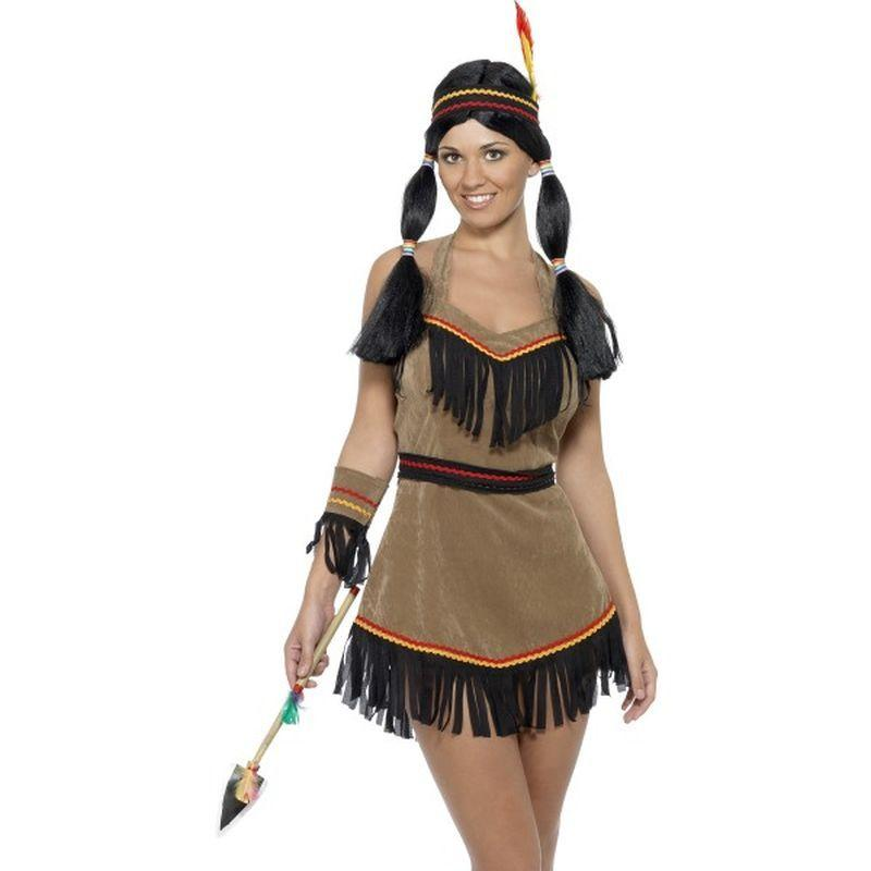 Indian Woman Costume - UK Dress 8-10 Womens Brown