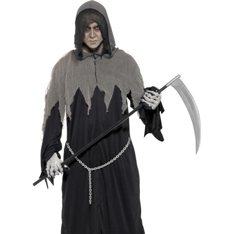 Grim Reaper Robe Costume - Medium Mens Black/Grey