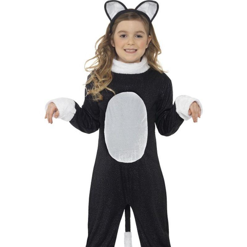 Cool Cat Costume - Small Age 4-6 Girls Black/White