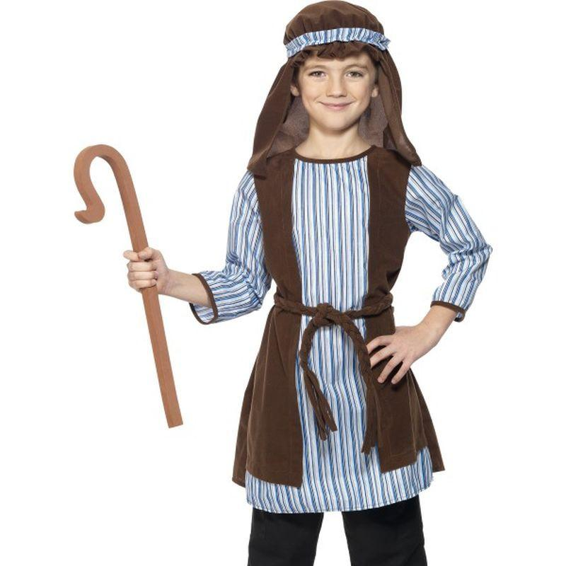 Shepherd Costume, Child - Small Age 4-6 Boys Brown/Blue