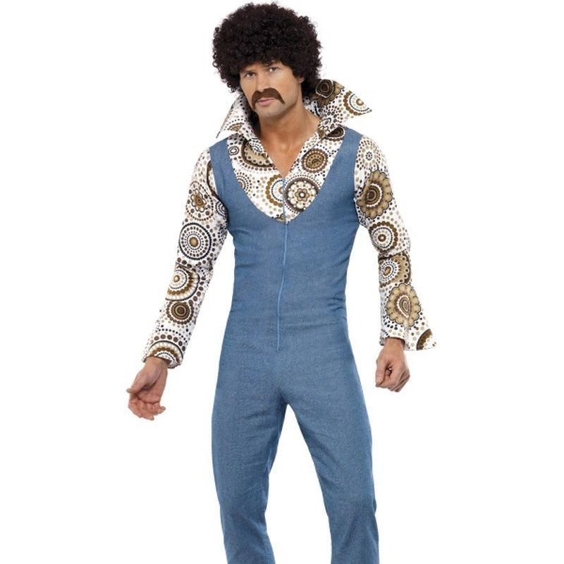 Groovy Dancer Costume - XL Mens Blue/Floral