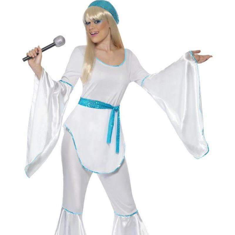 Super Trooper Costume - UK Dress 8-10 Womens White/Blue