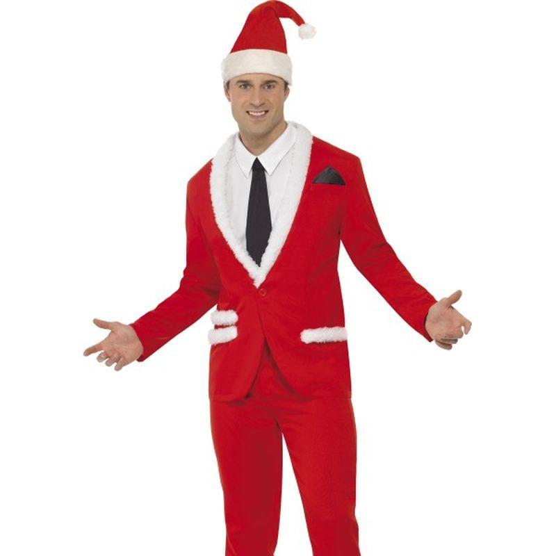 Santa Cool Costume - Medium Mens Red/White