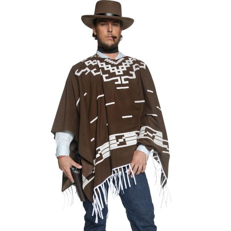 Authentic Western Wandering Gunman Costume - Large Mens Brown/White