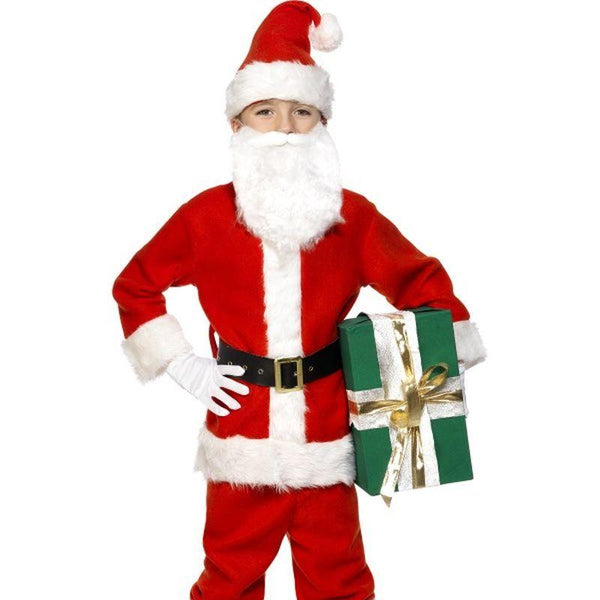 Santa Costume, Child - Small Age 4-6 Boys Red/White