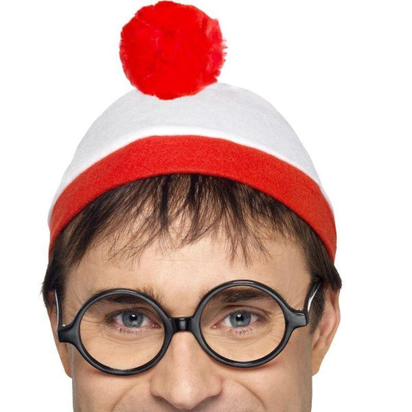 Wheres Wally? Instant Kit - One Size Mens White/Red