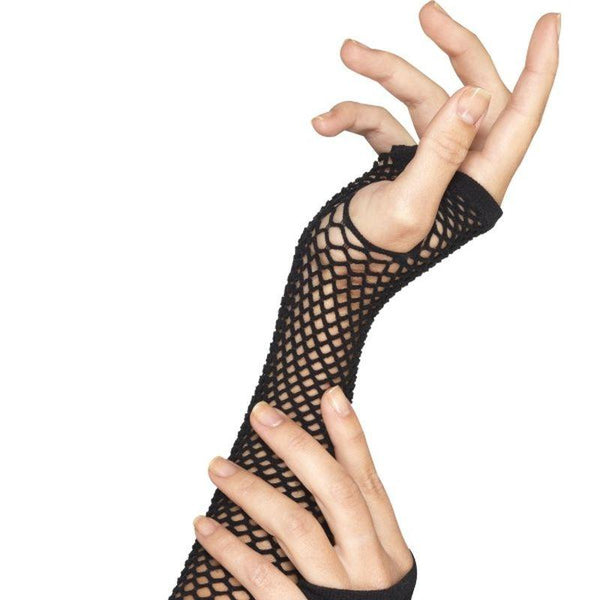 Fishnet Gloves, Long - One Size