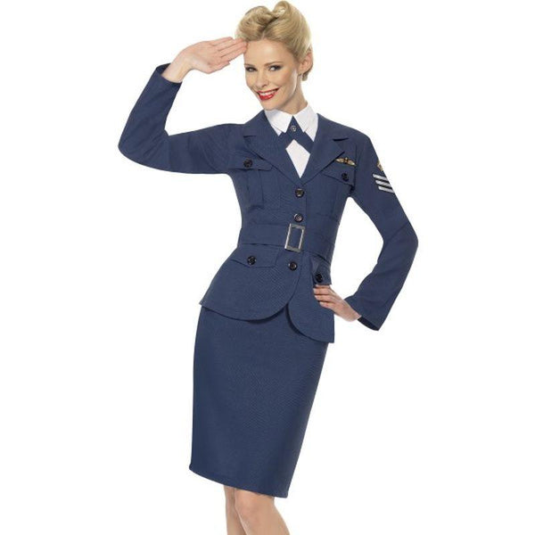 WW2 Air Force Female Captain - UK Dress 8-10 Womens Blue