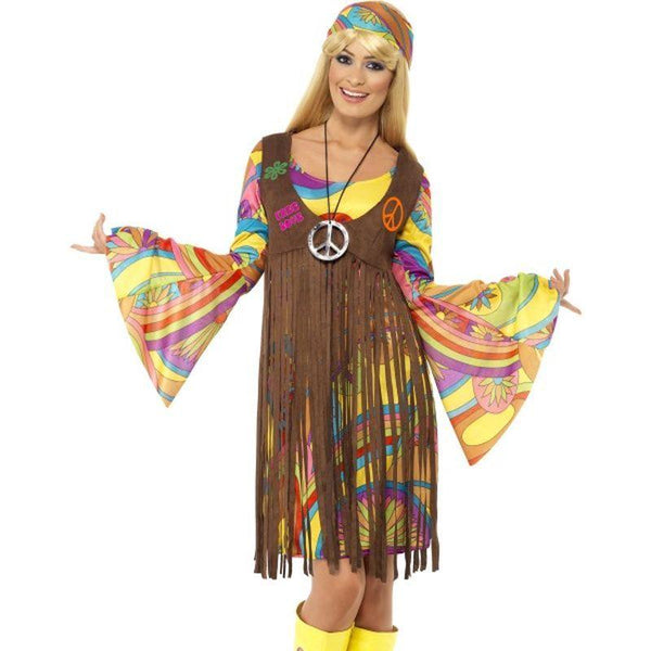 1960s Groovy Lady - UK Dress 8-10 Womens Multi