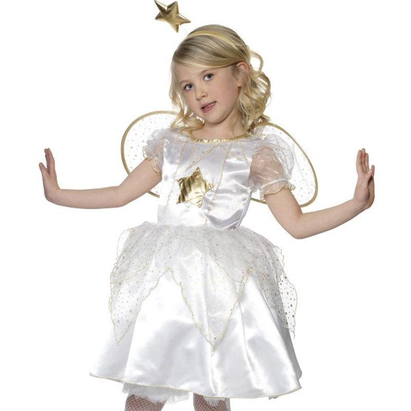 Star Fairy Costume - Small Age 4-6 Girls White/Gold