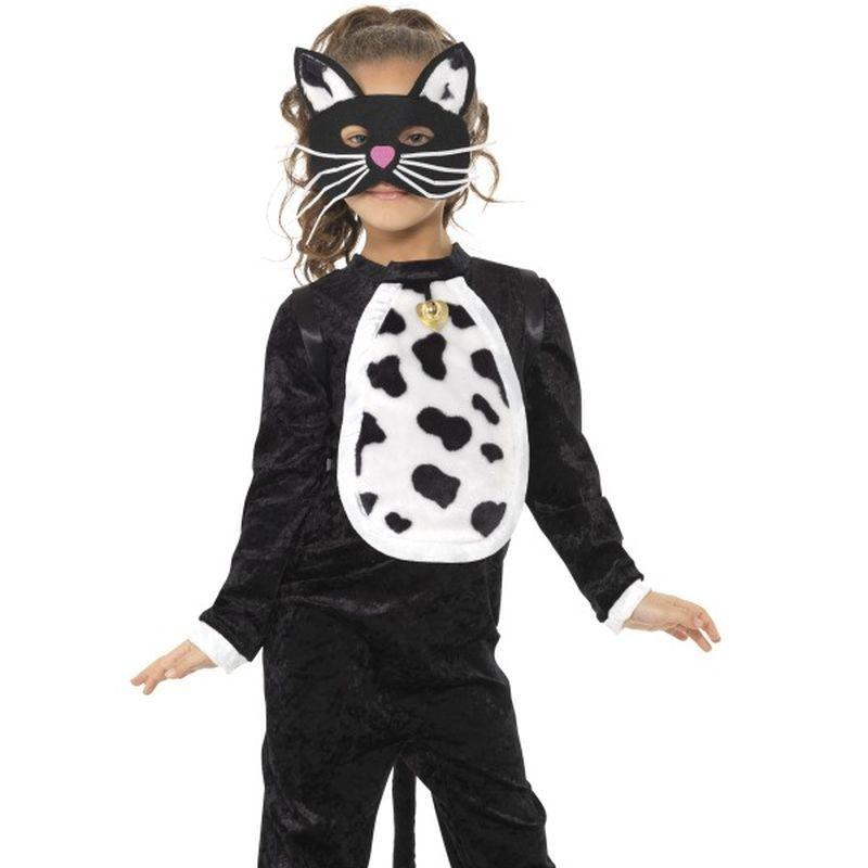 Cat Costume, All in One - Small Age 4-6 Girls Black/Wihte