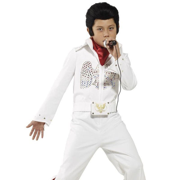 Elvis Costume - Medium Age 7-9 Boys White/Red