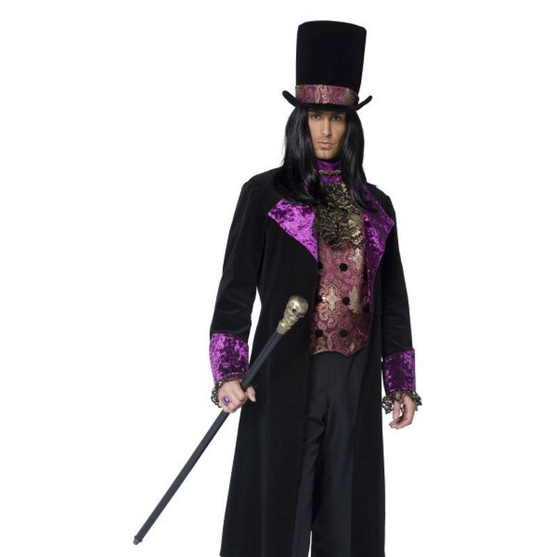 The Gothic Count Costume - XL Mens Black/Purple