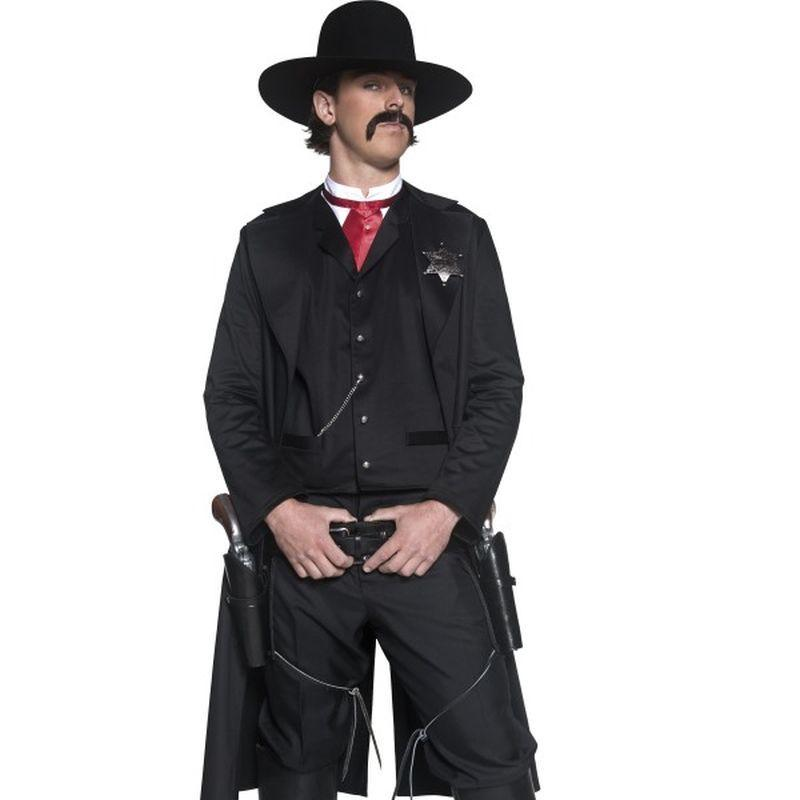 Authentic Western Sheriff Costume - Medium Mens Black