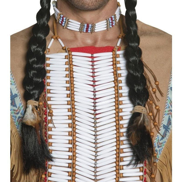 Western Authentic Indian Breastplate - One Size Mens White