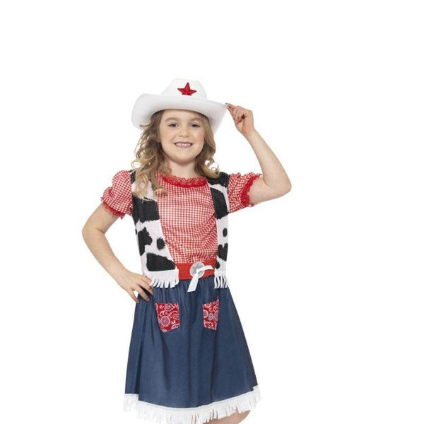 Cowgirl Sweetie Costume - Small Age 4-6 Girls Blue/Red/White