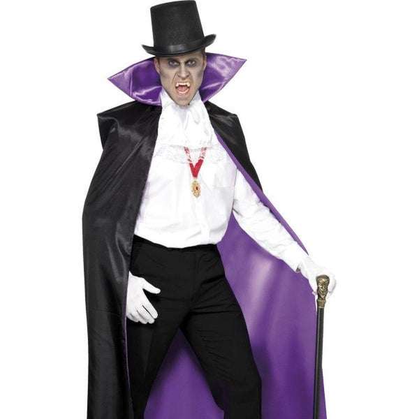 Count Reversible Cape, Black and Purple - One Size Mens Black/Purple