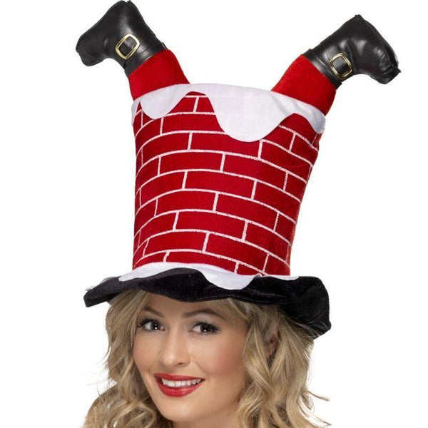 Santa Stuck in Chimney Hat - One Size