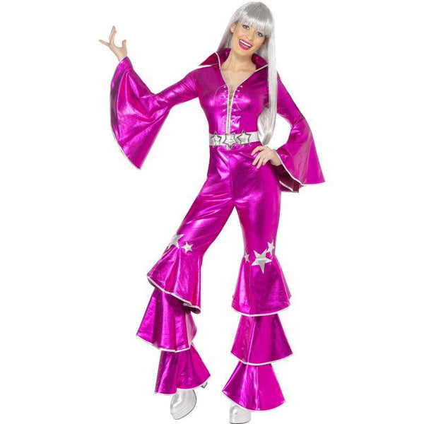1970s Dancing Dream Costume Adult Pink
