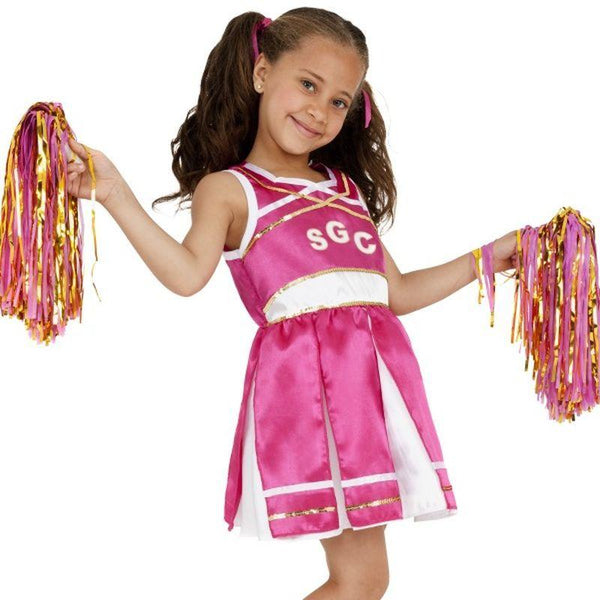 Cheerleader Costume, Child - Small Age 4-6 Girls Pink