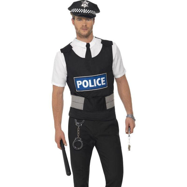 Policeman Instant Kit - Medium Mens Black