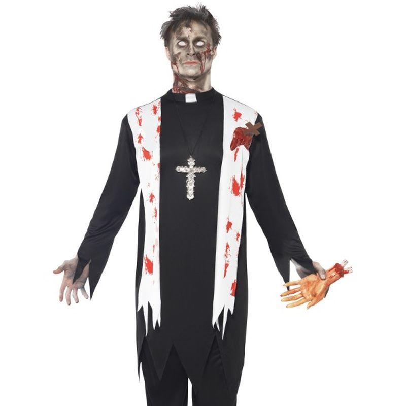 Zombie Priest Costume - Medium Mens Black/White