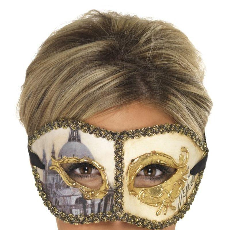 Venetian Colombina Venice Mask - One Size
