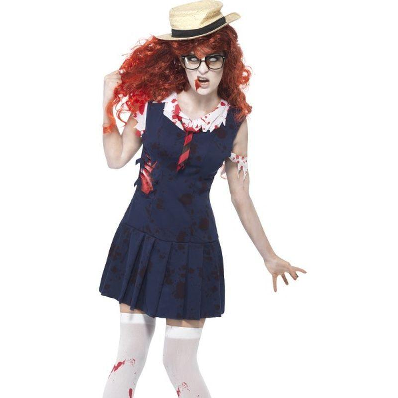 High School Horror Zombie College Student - UK Dress 16-18 Womens Navy