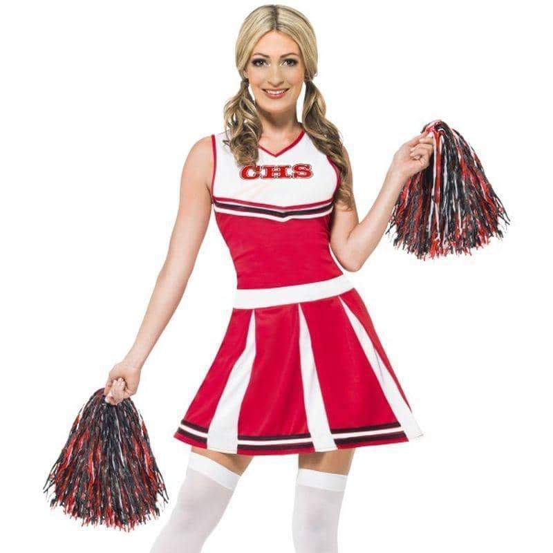 Cheerleader Costume - UK Dress 8-10 Womens Red