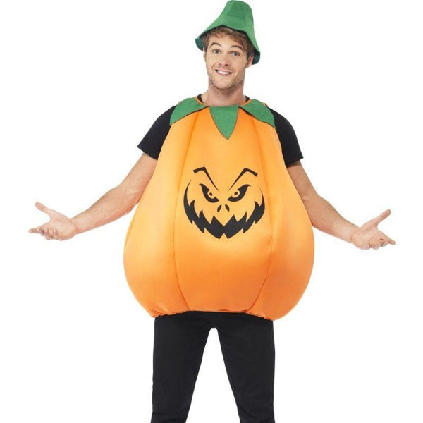 Pumpkin Costume - One Size Mens Orange/Green