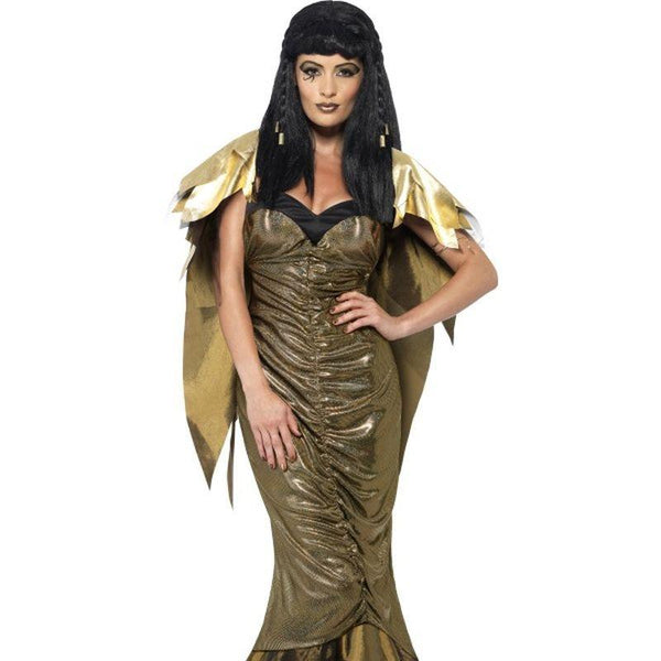 Dark Cleopatra - UK Dress 8-10 Womens Gold