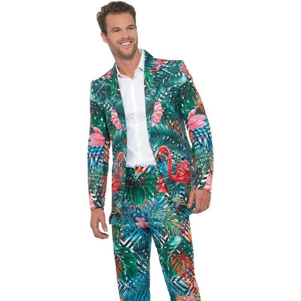 Hawaiian Tropical Flamingo Suit Adult Multi