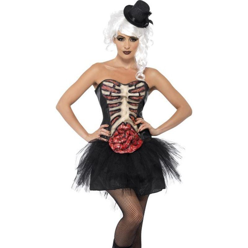 Grotesque Burlesque Corset - UK Dress 8-10 Womens Black