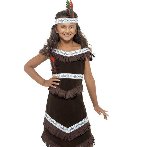 Indian Girl Costume - Small Age 4-6 Girls Brown