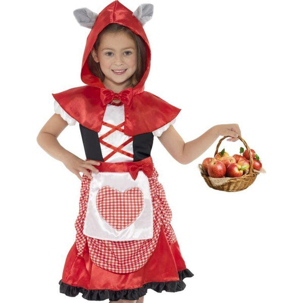 Miss Hood Costume - Small Age 4-6 Girls Red