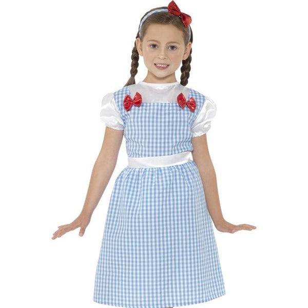 Country Girl Costume - Small Age 4-6 Girls Blue