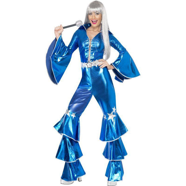 1970s Dancing Dream Costume Adult Blue