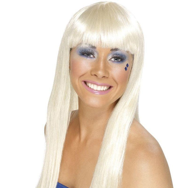 Dancing Queen Wig - One Size Womens Blonde