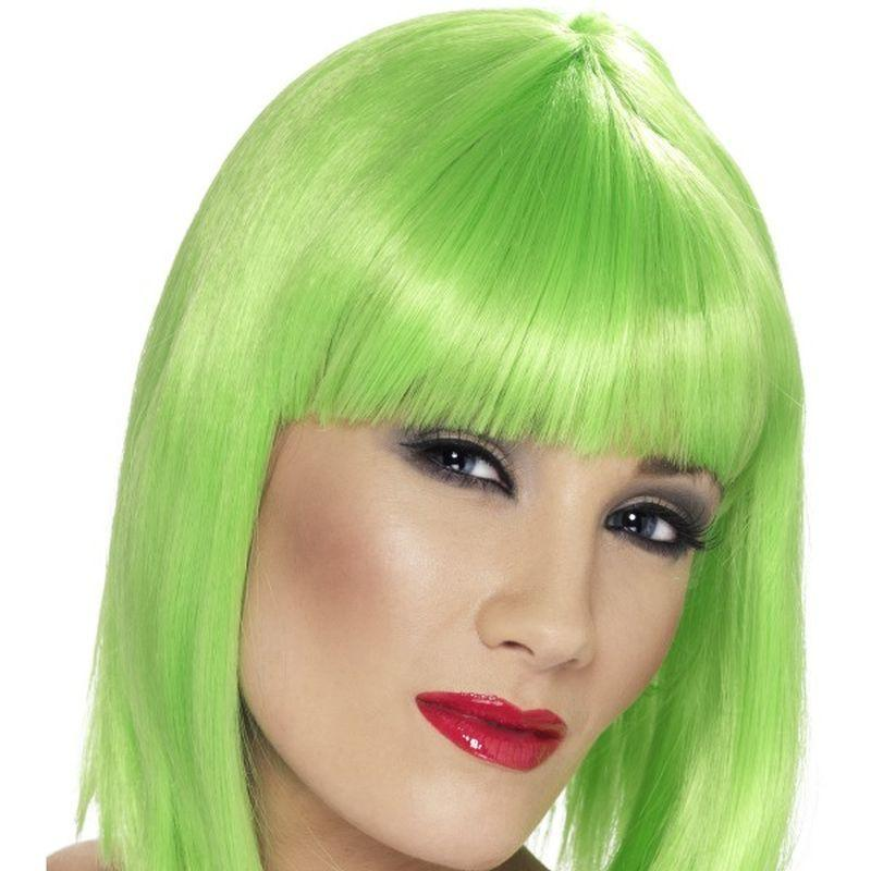 Glam Wig - One Size Womens Green
