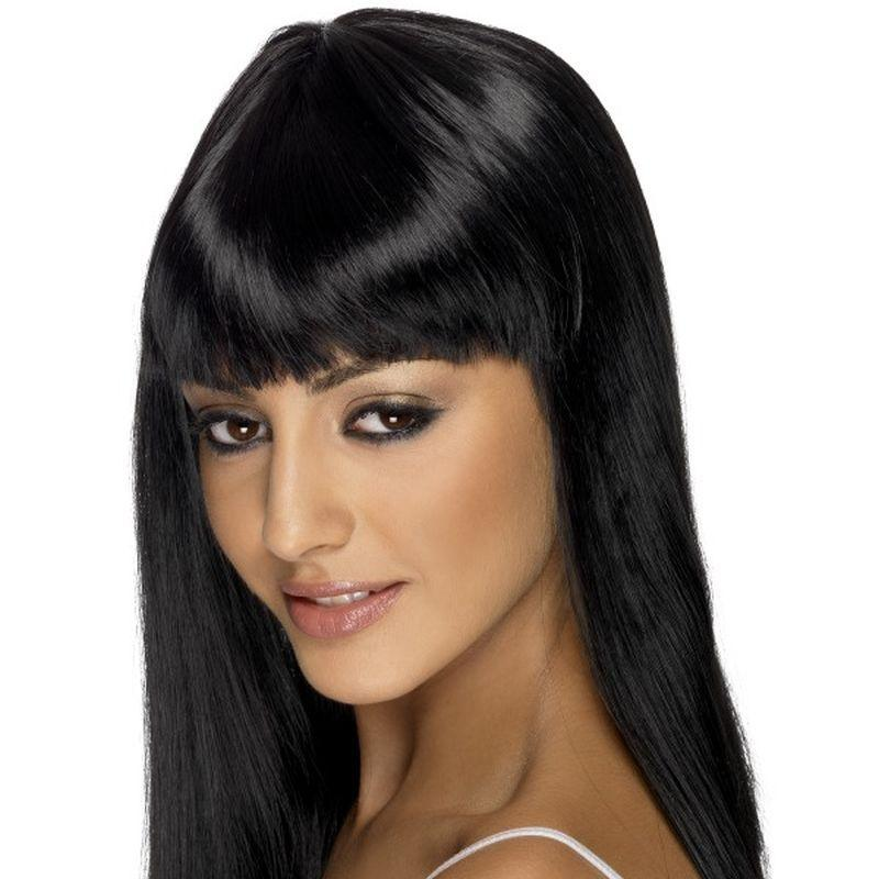 Glamourama Wig - One Size Womens Black