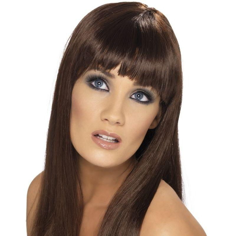 Glamourama Wig - One Size Womens Brown