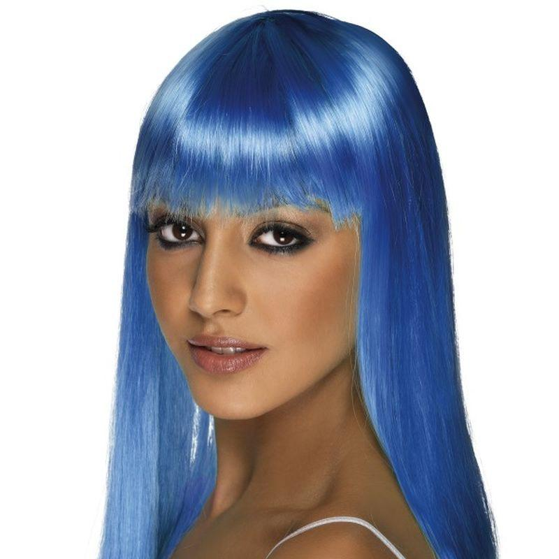 Glamourama Wig - One Size Womens Blue