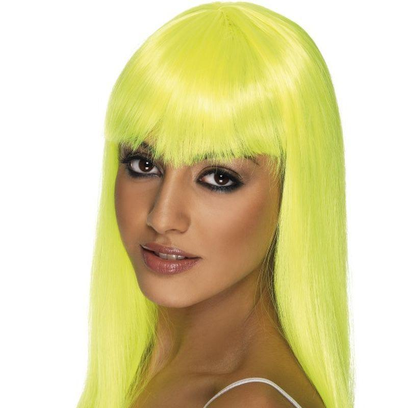 Glamourama Wig - One Size Womens Yellow