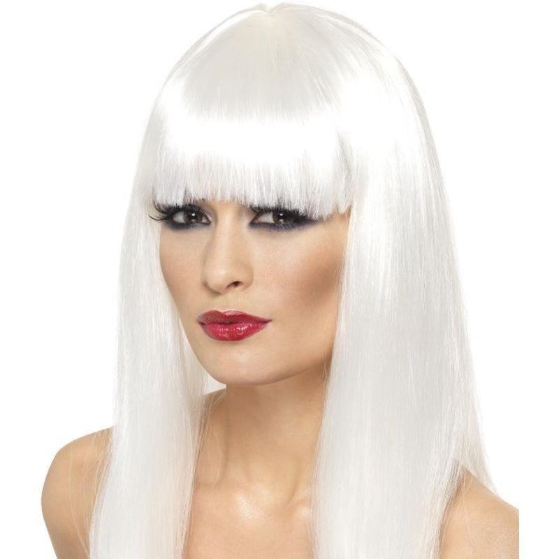 Glamourama Wig - One Size Womens White